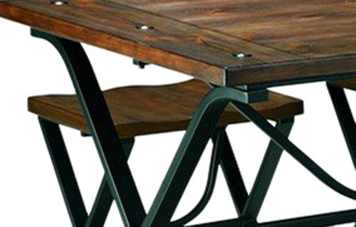 Ashley Furniture Signature Design - Freimore Dining Room Table and Stools - Set of 5 - Medium Brown Wood Top and Black Metal Legs by Signature Design by Ashley (Image #7)
