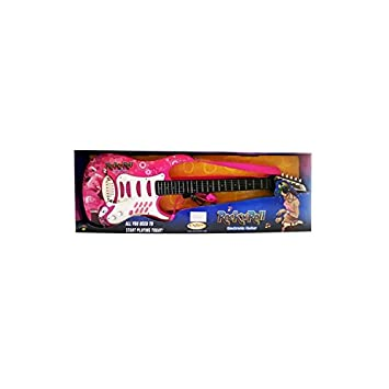 DRIM DISCOUNT Guitarra Eléctrica con Micrófono Rosa: Amazon.es: Juguetes y juegos