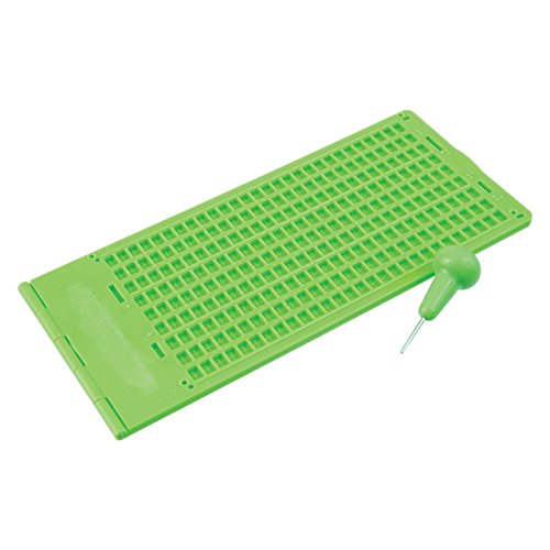 (Braille Slate and Stylus Kit 9 Lines x 30 Cells - Green Plastic )