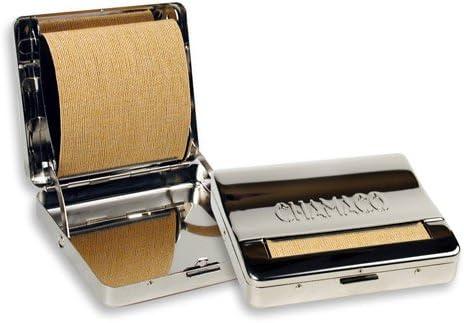 Pinkmarket - CH2607 Caja cromada metálica para liar cigarrillos. Liadora automática de tabaco.: Amazon.es: Hogar