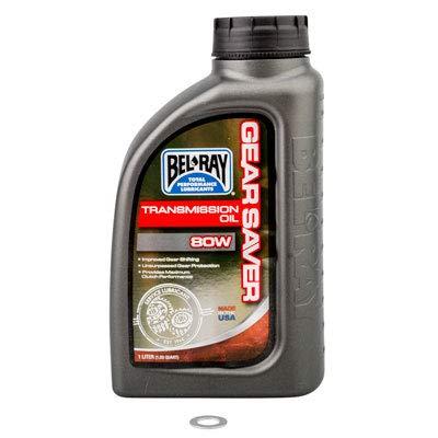 Tusk Transmission Oil Change Kit Bel-Ray Gear Saver 80W - Fits: Yamaha YZ250 1999-2019