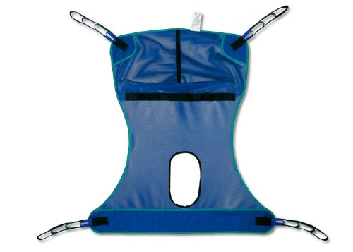 Invacare  Mesh Full Body Sling with Commode Opening, 450 lb Capacity - Medium