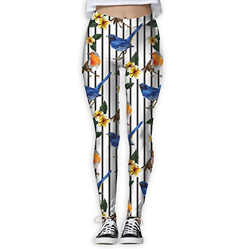 XIELIAN Tropical Exotic Bird Pattern Pants Yoga Workout Fitness Capris Leggings for Women ()