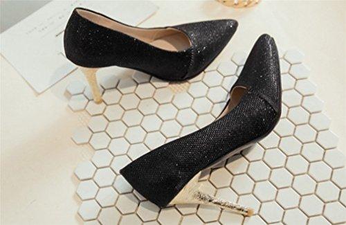 Peep Pompes Luxe Lucky Clover Black De a Mariée Queen Chaussures Danse Femmes Hauts Princesse Toe Blink Escarpins Party Talons Mode Dames Sandales qtAartF