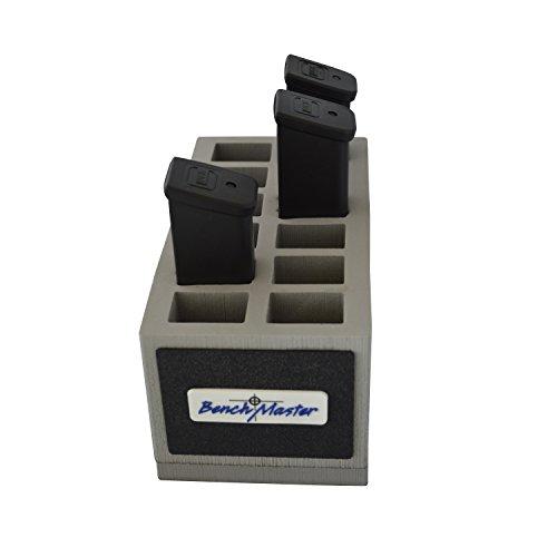 Benchmaster - Weapon Rack - Double Stack .45 Magazine Rack - 12 unit - Gun Safe Storage Accessories - Pistol Mag Storage