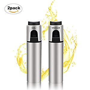 Olive Oil Dispenser Sprayer Stainless Steel BBQ Spray Bottle Kitchen Vinegar Spraying 2 Pack