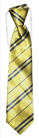 Wizard Tie Schuluniform, gestreift, 3 Größen, Gelb/Marineblau, Elasticated 3 Größen Wardah Limited