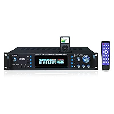 Pyle P2002ABTI 2000 Watts Hybrid Receiver and Pre-Amplifier with AM-FM Tuner/iPod Docking Station and Bluetooth by Sound Around