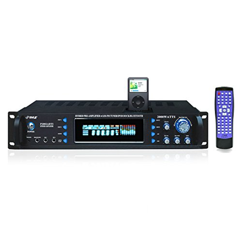 4-Channel Bluetooth Home Power Amplifier - 2000 Watt Audio S