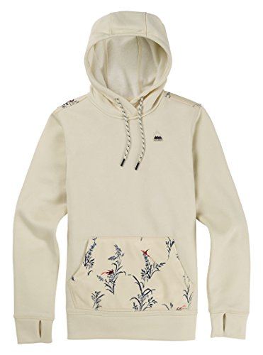 Burton Women's Oak Pullover Hoodie, Canvas Heather/Canvas Birds, Medium
