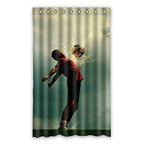 Brauch Soccer Fußball Fenster Vorhang Window Curtain Licht Beweis Polyester Fabrik für Schlafzimmer oder Wohnzimmer 132 Zentimeters x 213 Zentimeters (ein Stück)