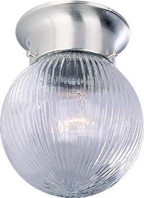 Volume Lighting V7303-33 1-Light Flush Mount Ceiling Fixture, Brushed Nickel
