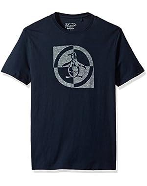 Men's Short Sleeve Checkerboard Circle Logo Tee