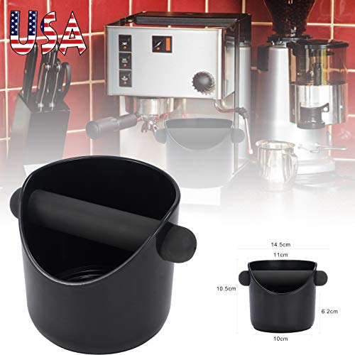 CAMWAY Espresso Grinds Waste Container Tamper Bin Coffee Knock Box Black by CAMWAY (Image #2)