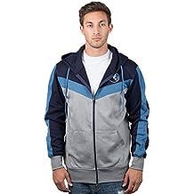 UNK NBA Men's Full Zip Hoodie Sweatshirt Back Cut Jacket, Team Color