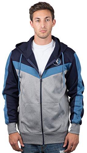 fan products of NBA Men's Minnesota Timberwolves Full Zip Hoodie Sweatshirt Jacket Contrast Back Cut, Large, Blue