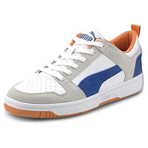 chollos oferta descuentos barato PUMA Rebound Layup Lo SD Zapatillas Unisex Adulto Blanco White Lapis Blue Vibrant Orange 38 EU