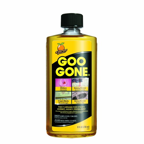 Goo Gone Original Liquid - 8 Ounce - Surface Safe Adhesive Remover Safely removes Stickers Labels Decals Residue...
