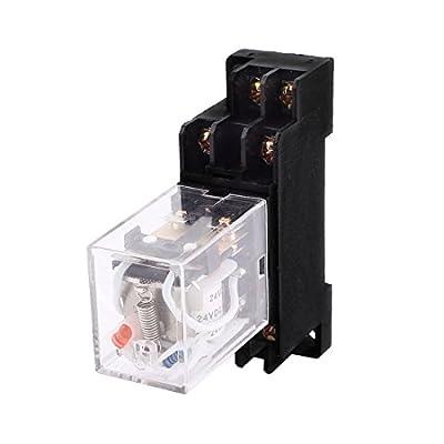 DPDT 8Pin Power Relay DC 24V Coil 5A 240V AC 28V w Socket