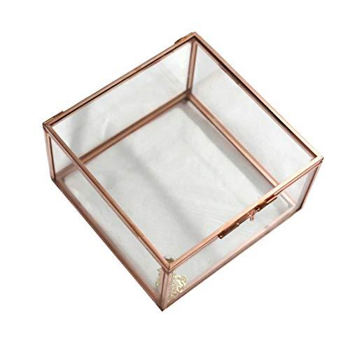 Home Garden Copper Cuboid Geometric Terrarium Art Tabletop Succulent Planter Pot |Size - L|