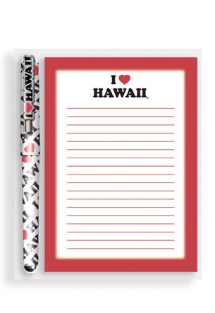 Love Stationery - STATIONERY SET I LOVE HAWAI'I RED