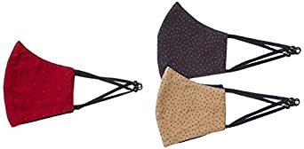 Amazon Brand - Symbol Men's Cotton Cloth Face Mask (Pack of 3)