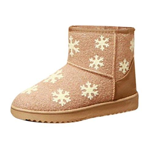 9dd17647e770 Transer® Damen Schnee Stiefel   Stiefeletten Herbst Winter Warm Schuh  Stoff+Plastik (