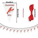 3 Pack 13.1 ft Crawfish Pennant Banner Mardi Gras