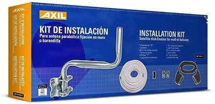 Engel Axil Boston MP0160E - Kit de instalación para antena soporte parabólica, incluydo cable coaxial 20 my cable euroconector