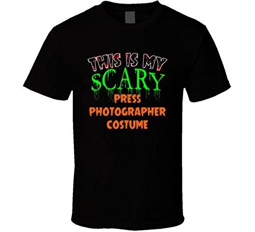 This is My Scary Press Photographer Halloween Costume Custom Job T Shirt M Black