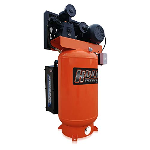 5 HP Air Compressor, Industrial, Stationary, Electric, Single Phase, 155 PSI, 80 Gallon, HULK Silent Series, Model…