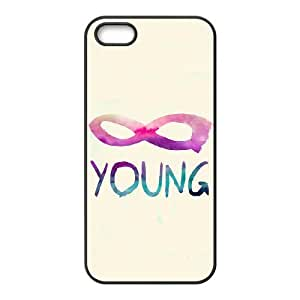wugdiy Customized Cell Phone Case Cover for iPhone 5,5S with DIY Design Infinite Young