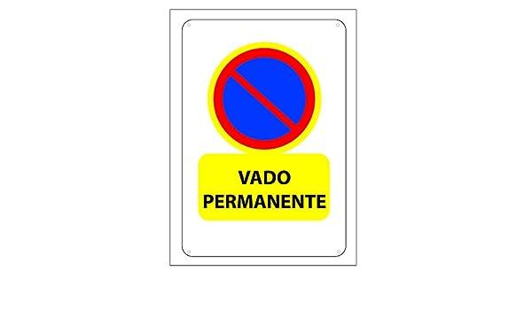 JAR 4052001 Cartel Vado Permanente: Amazon.es: Bricolaje y ...