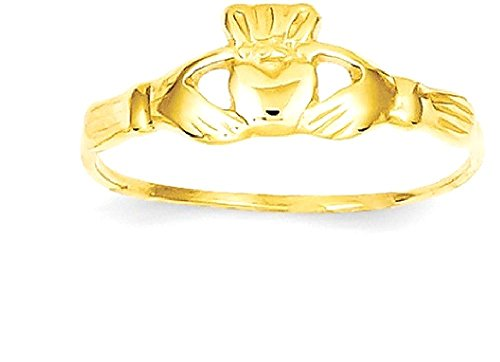 ICE CARATS 14k Yellow Gold Childs Irish Claddagh Celtic Knot Band Ring Size 4.50 Baby Fine Jewelry Gift Set For Women Heart