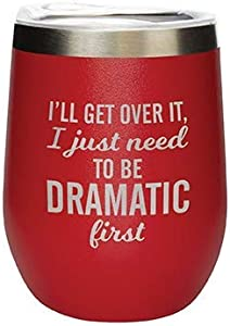 Carson, 35966, Dramatic First, 12-ounce Stemless Wine Tumbler, Red