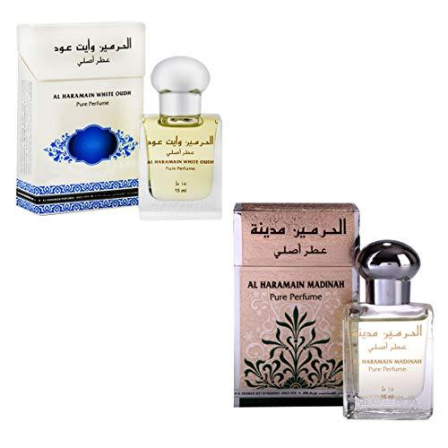 Jumia Al Haramain White Oudh Madinah Fragrance Roll On Attar Combo Pack Of 2 X 15 Ml Amazonin Beauty