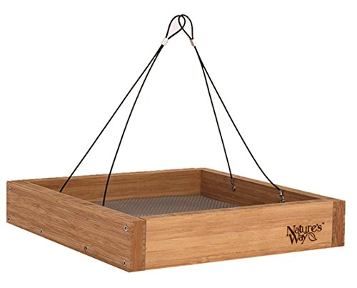 Nature's Way Bird Products BWF3 Bamboo Hanging Platform Feeder ()