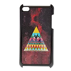 Bkjhkjy Shimmering Triangle and Eye Pattern Hard Case for iPod touch 4