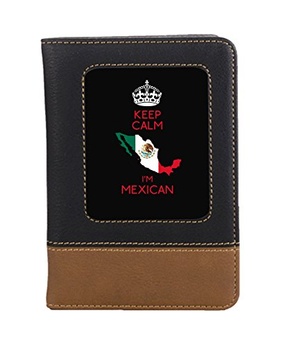 Mexican Leatherette Travel Passport Wallet Case Cover with Card Slots by Jacks Outlet