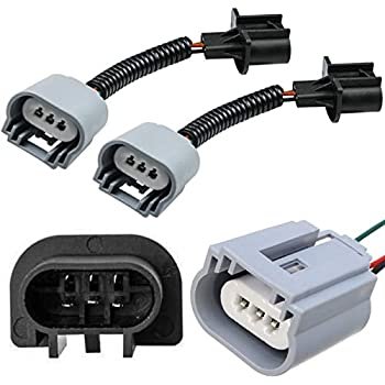 2x h13 9008 extension wire harness sockets. Black Bedroom Furniture Sets. Home Design Ideas