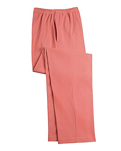 UltraSofts Elastic-Waist Interlock Pull-On Pants, Coral, for sale  Delivered anywhere in USA