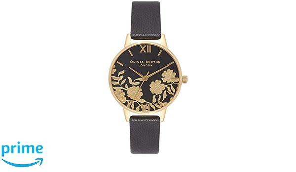 Olivia Burton Reloj Analógico para Mujer de Cuarzo con Correa en Cuero OB16MV60: Amazon.es: Relojes