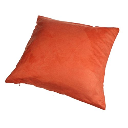Mallcat Suede Nap Home Decor Sofa Throw Pillow Case 45cm*45cm(17*17) (Orange)