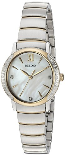 Bulova Women's Quartz Stainless Steel Casual WatchMulti Color (Model: 98R231) - Bulova Gold Tone Diamond Watch