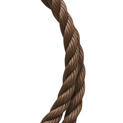 Koch Industries Twisted Polypropylene Rope, Brown, 1/4 Inch by 50 Feet, Coil