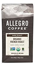 Allegro Coffee Organic French Roast Whole Bean Coffee, 12 oz