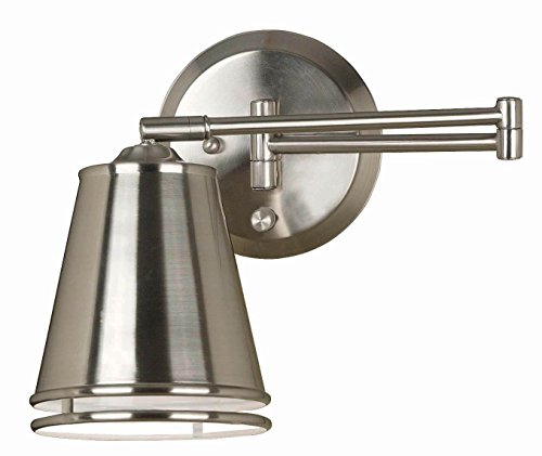 Metro Swing Arm Wall Lamp in Brushed Steel