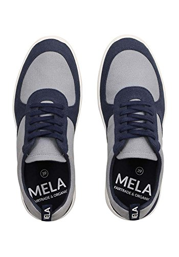 Azul MELAWEAR para Gris Mujer Zapatillas Y YxwfwHSCq
