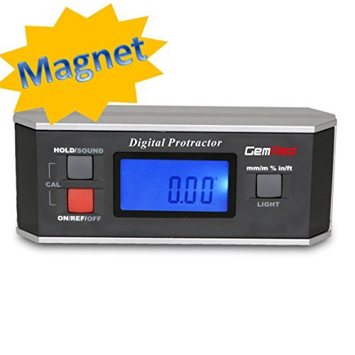 GemRed 360 Digital Protractor Inclinometer Angle Finder Gauge for metal working (With Magnet) by Gemred