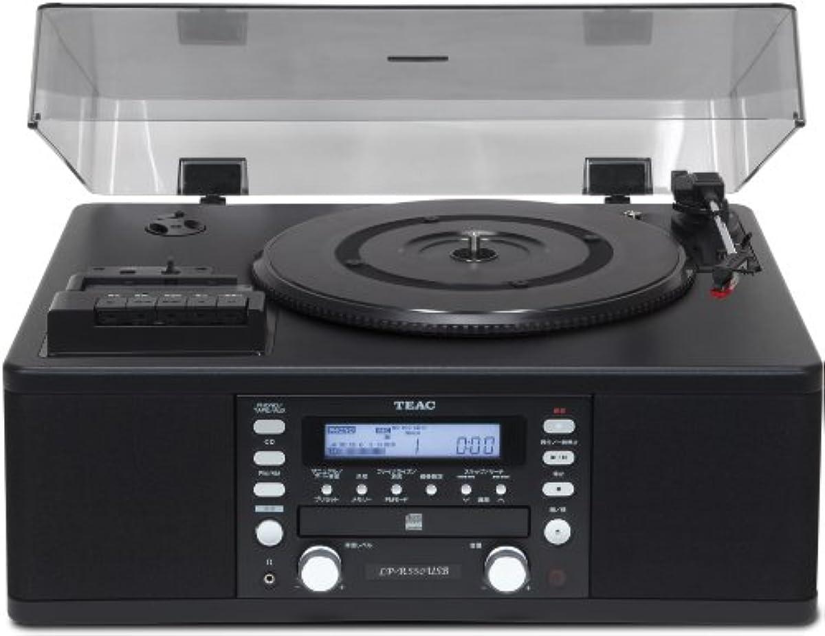[해외] TEAC CD레코더 턴 테이블/카세트 플레이어부 LP-R550USB-B